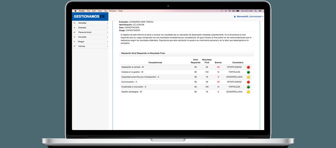 Software para Presentación de Informes de Evaluación de Desempeño